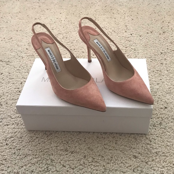 0921606fbbdfb Manolo Blahnik Shoes | Sold Nwt Allura Blush Suede | Poshmark